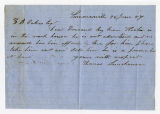 Letter by Thomas Linchouse to...